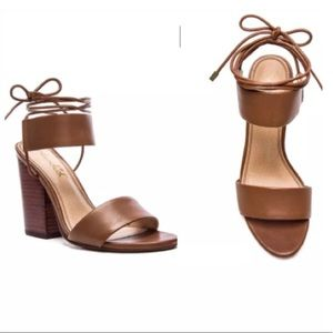 NEW SPLENDID Anthropologie Brown Lace Up Sandals